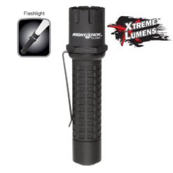 Xtreme Lumens Flashlight TAC-310XL 5.5-inch polymer body, rechargeable, 1-inch diameter, tail switch, 500lm white LED.