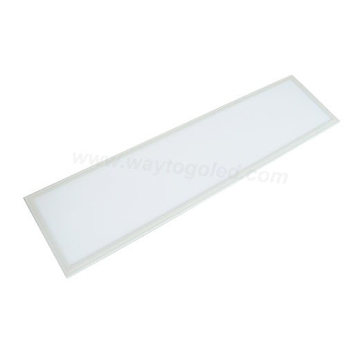 12x48x2 inch ultra-thin aluminum panel light with acrylic lens. Dimmable with four CCT color options.