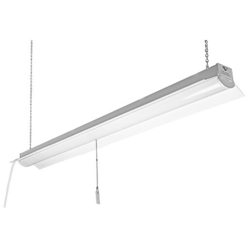 "10-LEDSHOPLITE 48x4"" steel body LED Shop Light. 3 prong AC outlet cord. Surface or suspension installation."