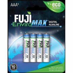 Digital AAA Fuji alkaline batteries, blister packaging, sold in case quantities of 192 cells. Use in High Drain electronics.