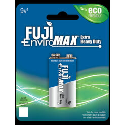 Fuji carbon-zinc 9V size battery case quantities 48 cells. Blister pack 1 unit.