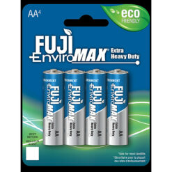 Fuji carbon-zinc AA size battery, case quantities 192 cells. Blister pack contains 4 batteries.