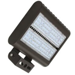"LEDMPAL100 bright 100W LED floodlight 13""x10"", powder coated aluminum housing with heat resistant PC lens."
