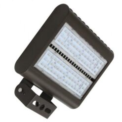 13x10 inch 150W LED flood-street area light, aluminum housing, heat resistant PC lens. Ground and elevated installations.