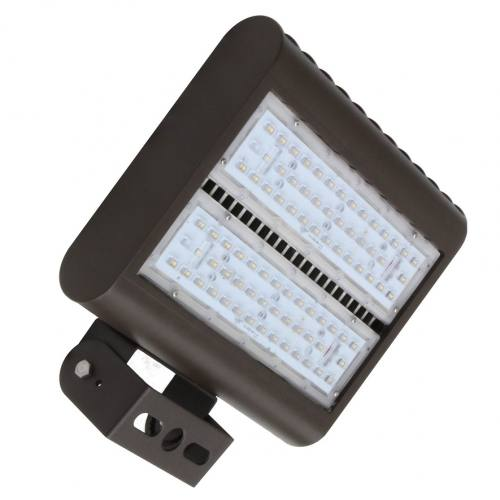 "LEDMPAL150 bright 150W LED floodlight 13""x10"", powder coated aluminum housing with heat resistant PC lens."
