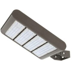 13x17 inch 300W LED flood-street area light, aluminum housing, heat resistant PC lens. Ground and elevated installations.