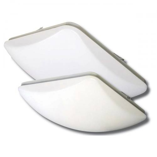 """LEDS14 dimmable 14"""" square dome light molded from thermoplastic. 1805lm at 24W with 2 CCT options."""