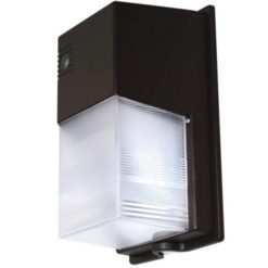 11x7x5 inch 20W LED Semi-cutoff Wall Pack light. PC body with aluminum backplate and PC fluted lens.