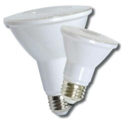 12-LEDPAR38-13W-D PAR shape 9W LED dimmable light bulb. Edison E-26 medium screw base fits standard socket.