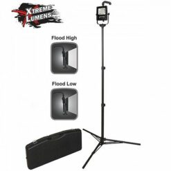 NSR-1514C Battery Power Floodlight Portable LED light, adjustable top handle, multi-angle swivel fixture Tripod and Case.