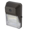 9x6x3 inch 20W LED Semi-cutoff Wall Pack light. Aluminum housing and fluted PC lens sealed against water and dust entry.