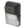 "LEDWPPCSN semi-cutoff mini-wall pack, 20W, 9""x6"" aluminum housing with fluted PC lens."