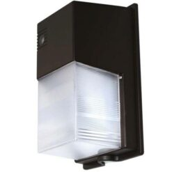 11x7x5 inch 30W LED Semi-cutoff Wall Pack light. PC body with aluminum backplate and PC fluted lens.
